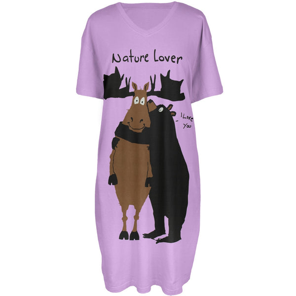 Bear & Moose Nature Lover Women's Sleepshirt