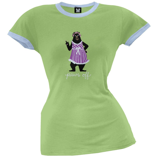 Bear Paws Off Women's Pajama Ringer T-Shirt