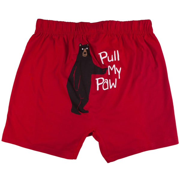 Bear Pull My Paw Men's Boxer Shorts