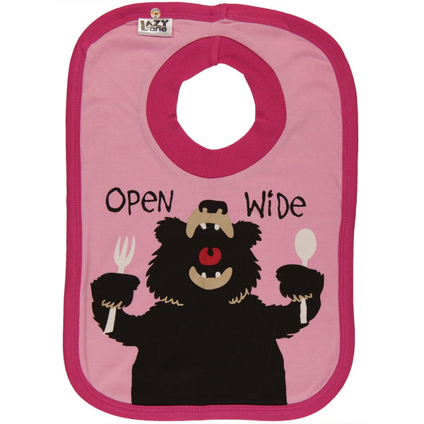 Bear Open Wide Bib