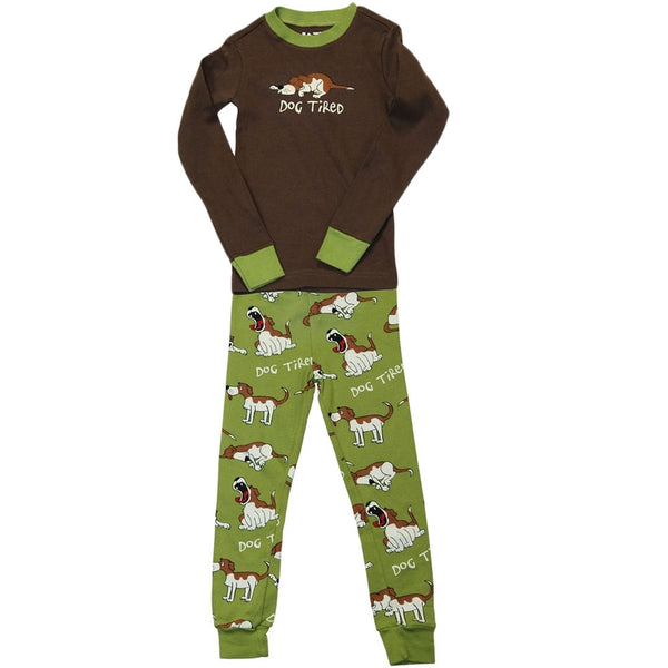 Dog Tired Toddler Long Sleeve Pajama Set