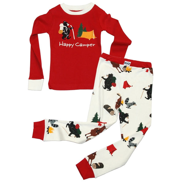 Bear & Moose Happy Camper Toddler Long Sleeve Pajama Set