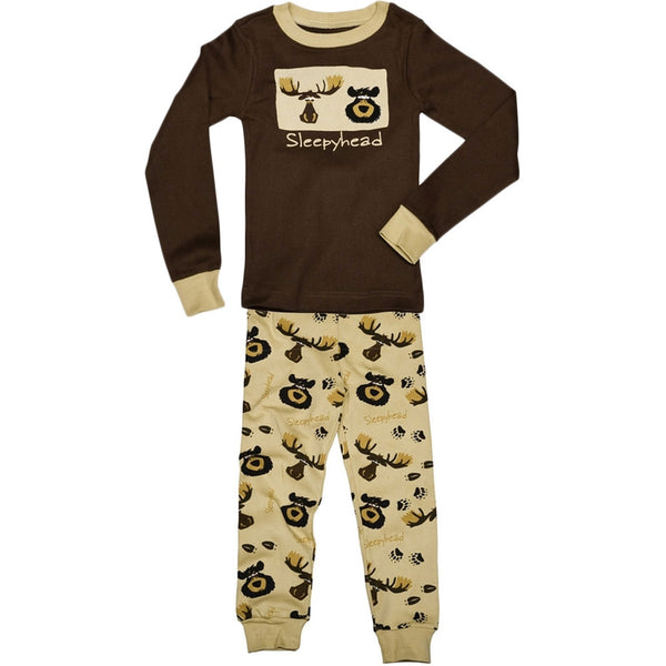 Bear & Moose Sleepy Head Toddler Long Sleeve Pajama Set