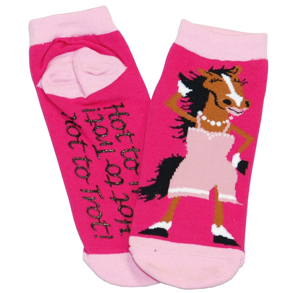 Horse Hot To Trot Women's Slipper Socks