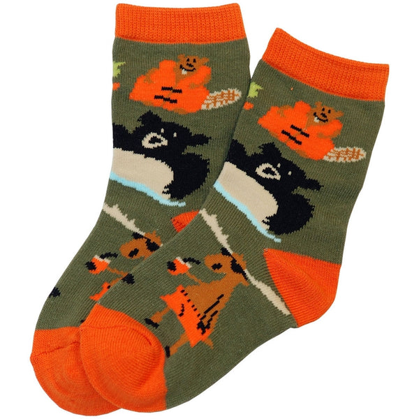 Bear Up a Creek Kid's Socks