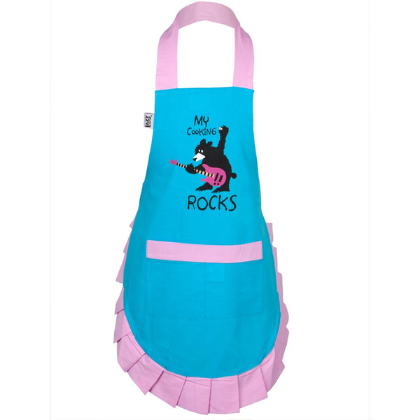 Bear My Cooking Rocks Kid's Apron