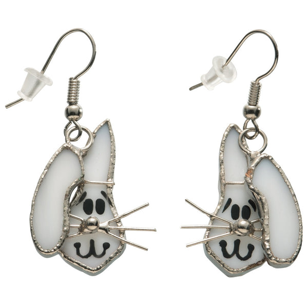 Stained Glass Bunny Earrings