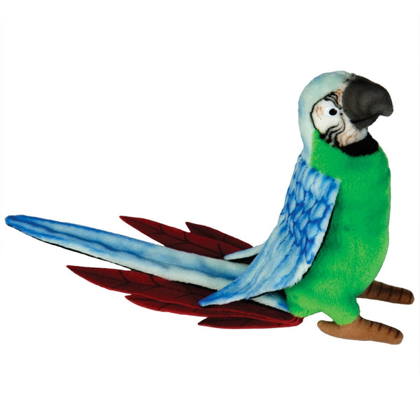 Realistic Replica Plush Green Parrot
