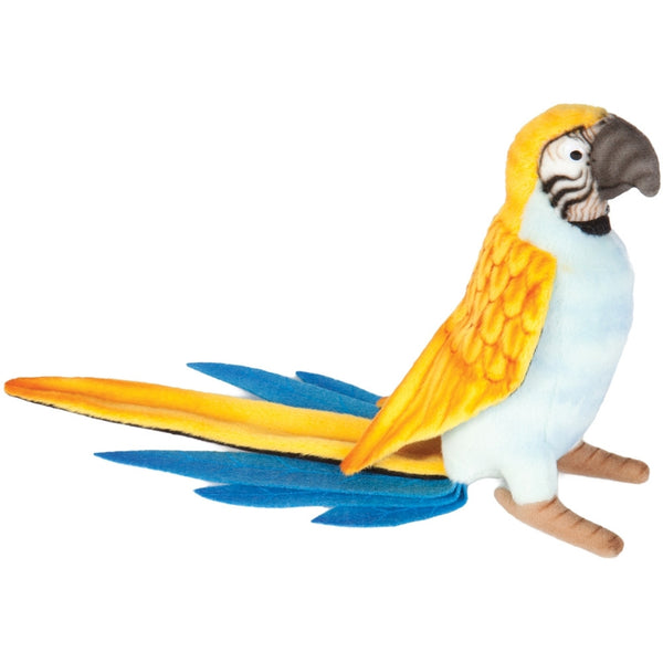 Realistic Replica Plush Blue Parrot