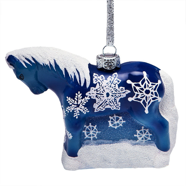 Trail of Painted Ponies Snowflake Pony Ornament