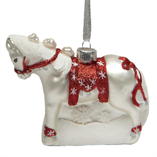 Trail of Painted Ponies Dashing Through the Snow Ornament