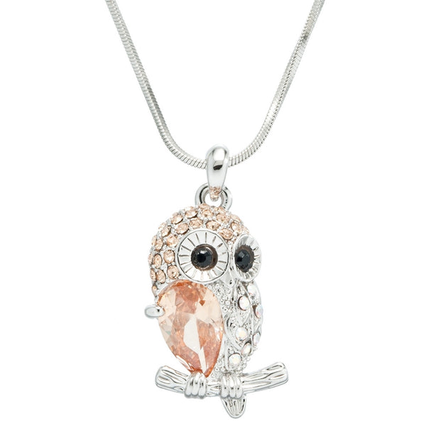 Owl Gemmed Body Necklace