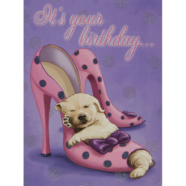 Put On Your Dancing Shoes Birthday Greeting Card