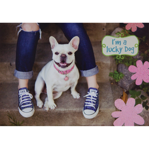 Lucky Dog To Have A Friend Greeting Card