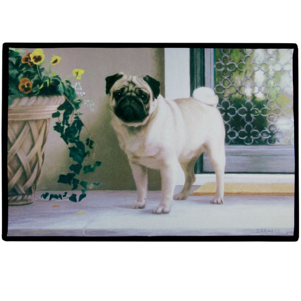 Pug On The Porch Doormat