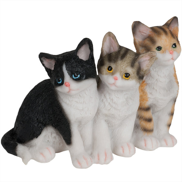Three Sitting Kittens Figurine