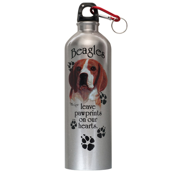 Beagle Prints On Heart Stainless Water Bottle