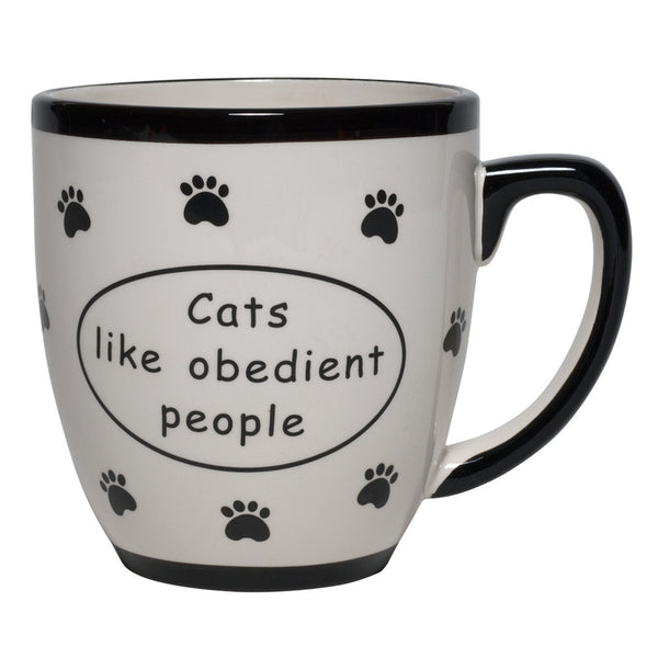 Cats Like Obedient People Ceramic Coffee Mug