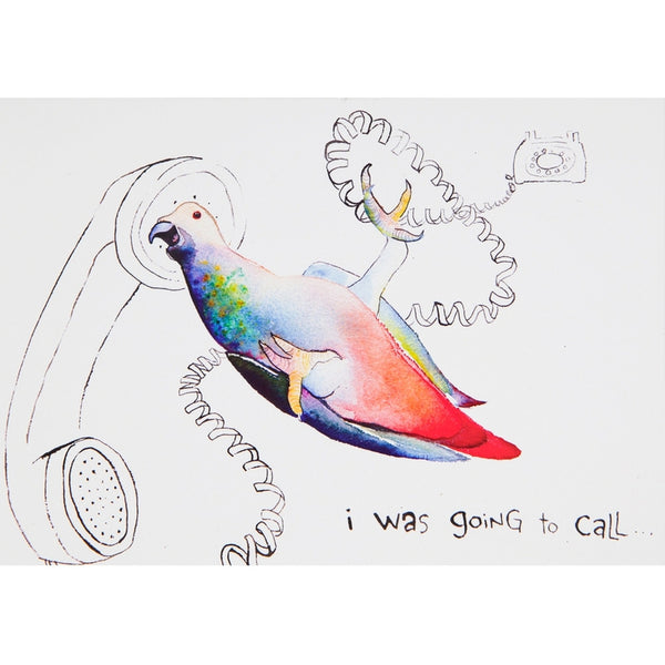 Parrot Thinking of You Greeting Card