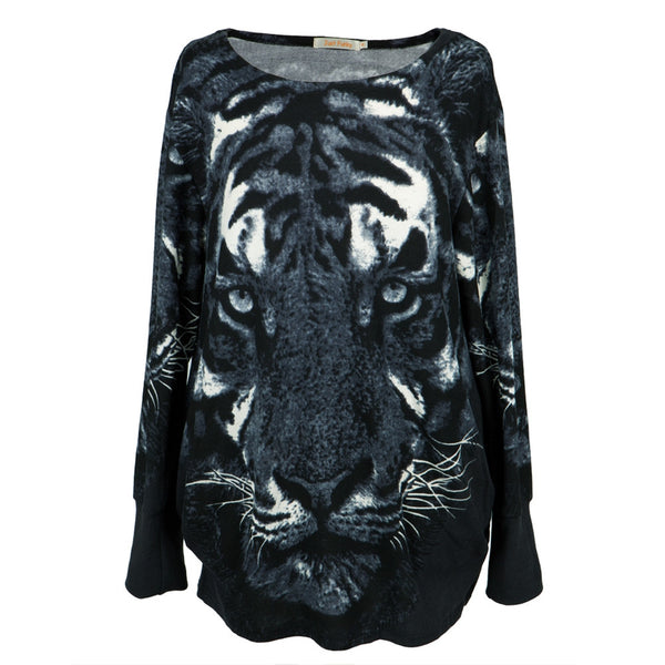 Black Women's Tiger Sweater