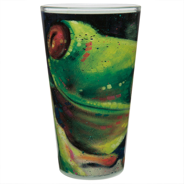 Stephen Fishwick Green Frog Pint Glass