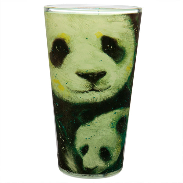 Stephen Fishwick Panda Family Pint Glass