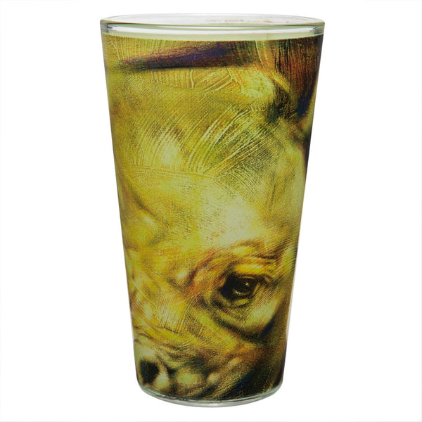 Stephen Fishwick Rhino Pint Glass