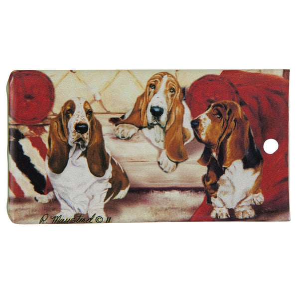 Basset Hound Portrait Bag Tag