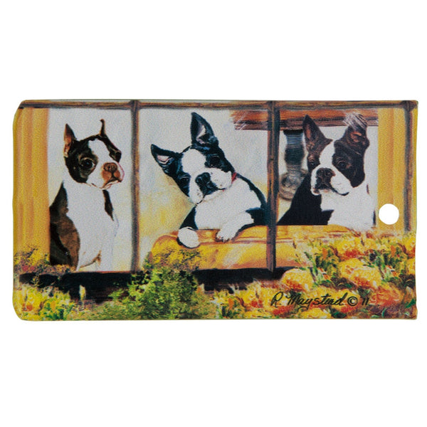 Boston Terrier Portrait Bag Tag