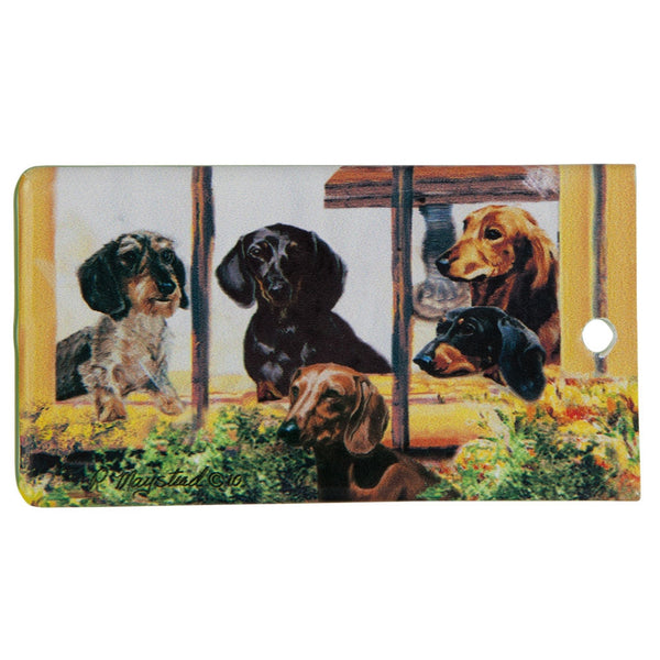 Dachshund Portrait Bag Tag