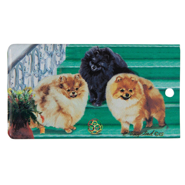 Pomeranian Portrait Bag Tag