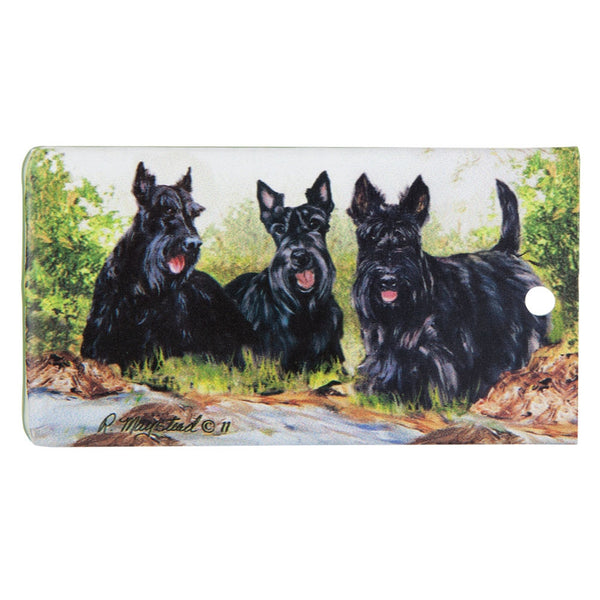 Scottish Terrier Portrait Bag Tag