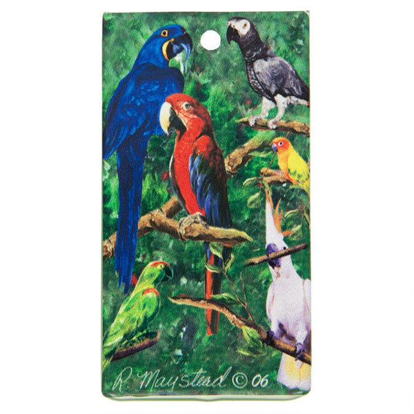 Birds Portrait Bag Tag