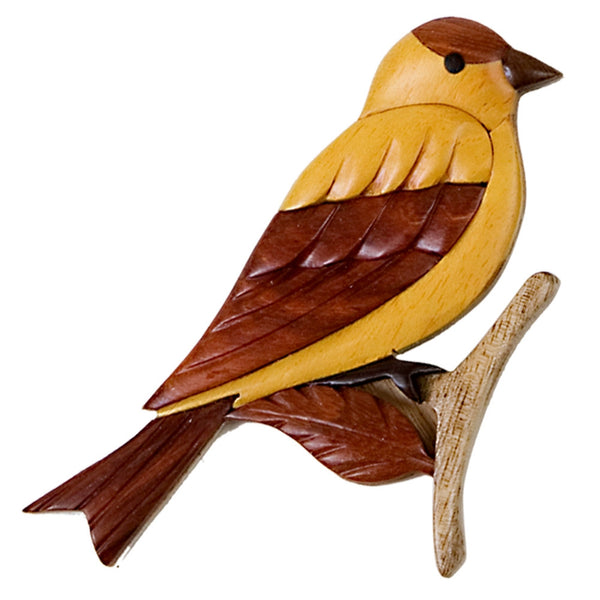 Goldfinch Wooden Magnet