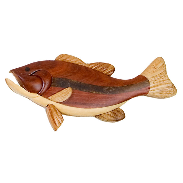 Largemouth Bass Wooden Magnet