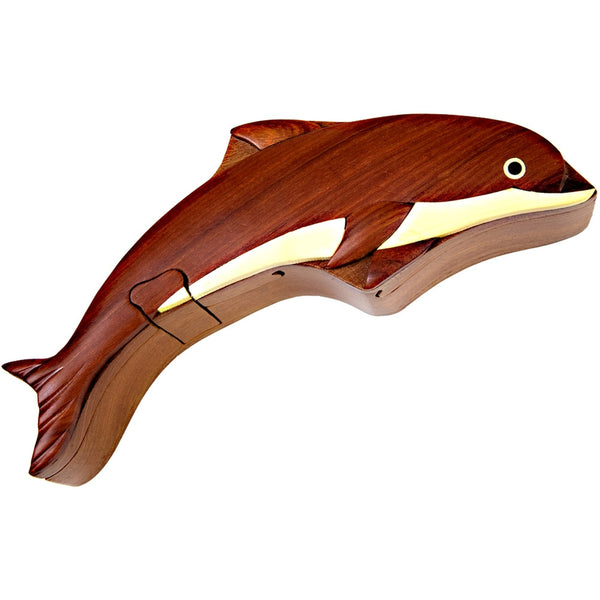 Dolphin II Wooden Puzzle Box