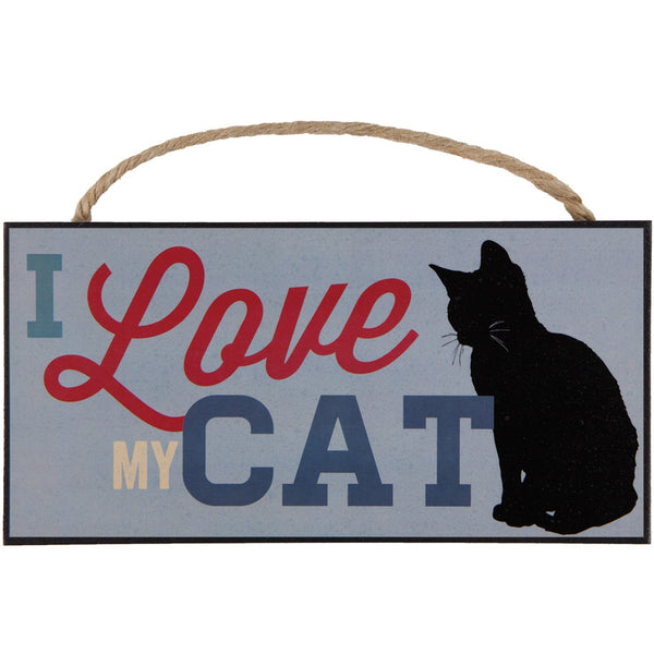 I Love My Cat Hanging Sign