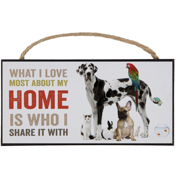 Home Is Who I Share It With Hanging Sign