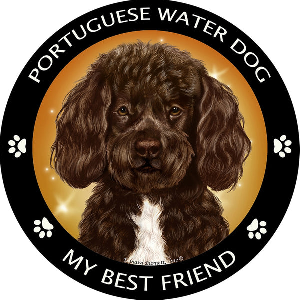 Brown Portuguese Water Dog My Best Friend Magnet
