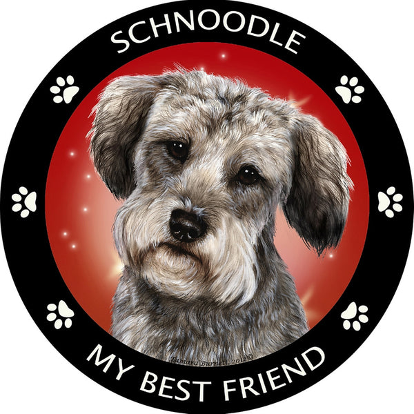 Schnoodle My Best Friend Magnet