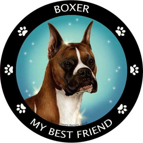 Boxer Cropped My Best Friend Magnet