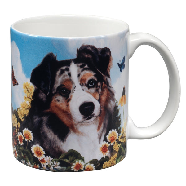 Australian Shepherd Garden Party Fun Mug