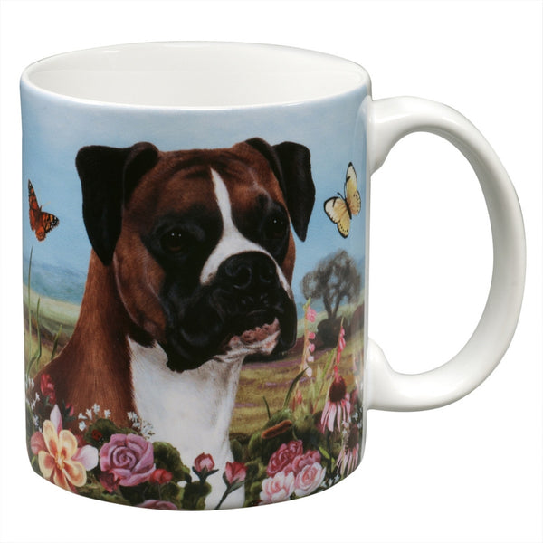 Boxer Uncropped Garden Party Fun Mug