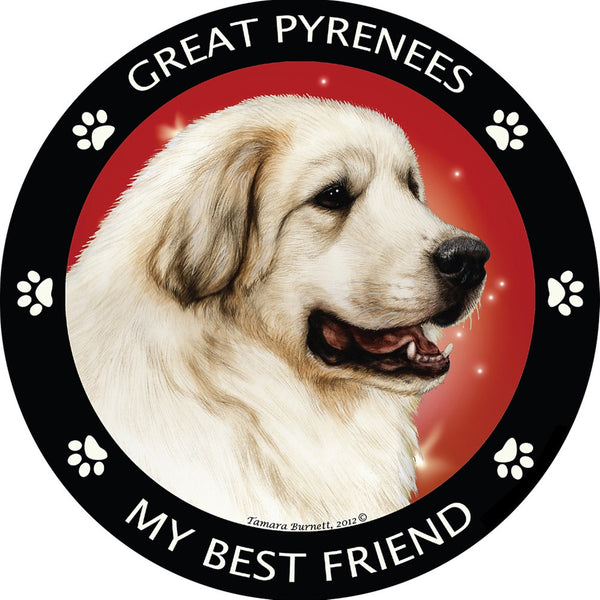 Great Pyrenees My Best Friend Magnet