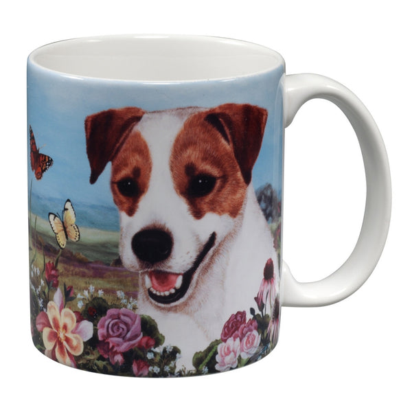 Jack Russell Terrier Garden Party Fun Mug