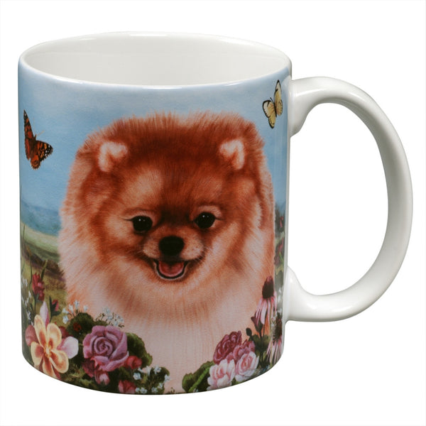 Pomeranian Garden Party Fun Mug