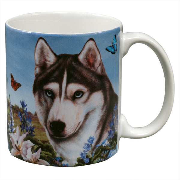 Siberian Husky Garden Party Fun Mug