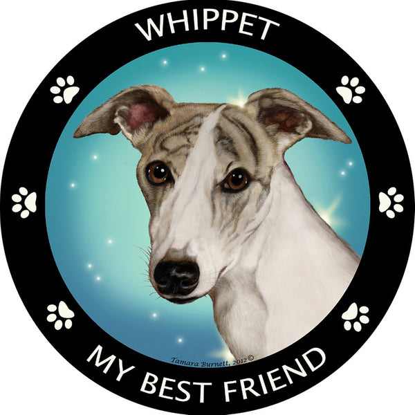 Whippet My Best Friend Magnet