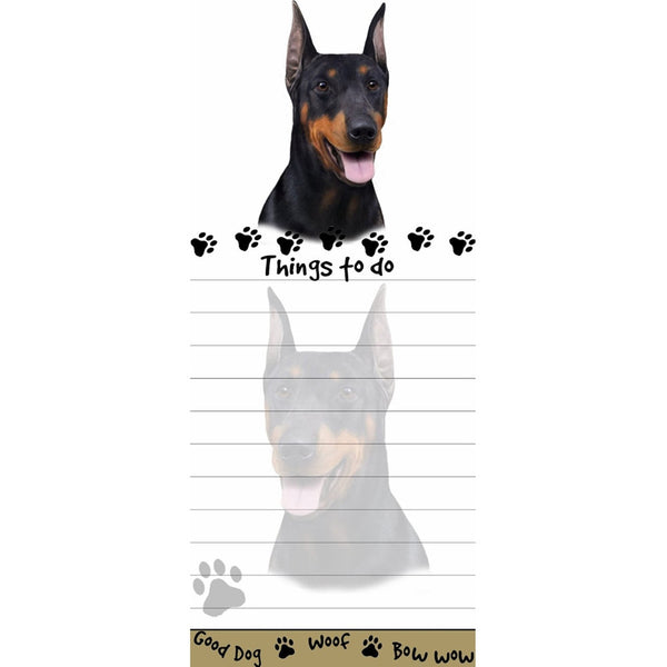 Doberman Tall Magnetic Notepad