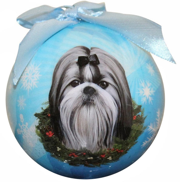 Shih Tzu Christmas Ball Ornament